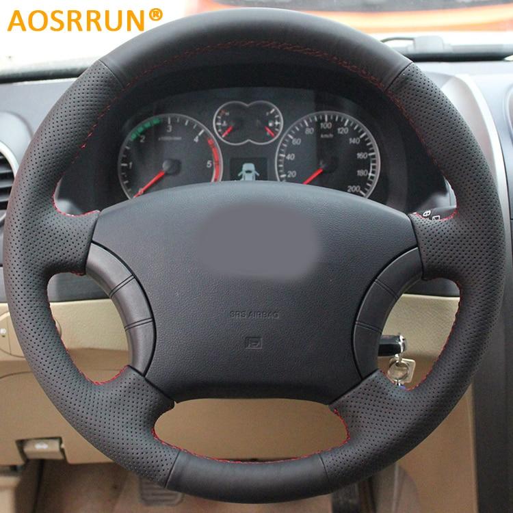 AOSRRUN Leder Hand genäht Auto Lenkrad Abdeckungen Für Great Wall Haval Schwebeflugs H3 H5 Wingle 3 Wingle 5 auto zubehör
