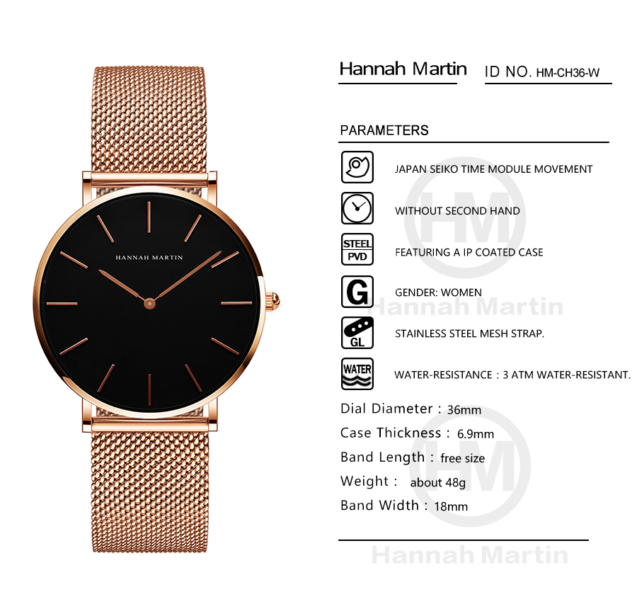 Image 5 - Dropship Women Watch Japan Quartz Design Waterproof Rose Gold Stainless Steel Mesh 1 set 3psc Band Lady watches relogio feminino-in Women's Watches from Watches
