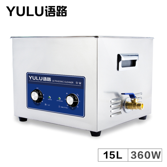 Mechanical Ultrasonic Cleaner Bath 15L Circuit Board Lab Industrial Auto Parts Tableware Metal Electronic Ultrasound Washer