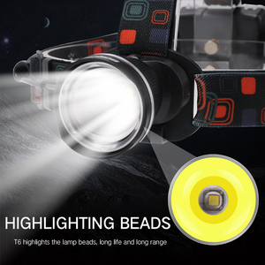 Image 5 - BORUiT RJ 2166 4000LM T6 LED פנס 3 Mode זום פנס עמיד למים ראש לפיד לקמפינג ציד ידי AA סוללה