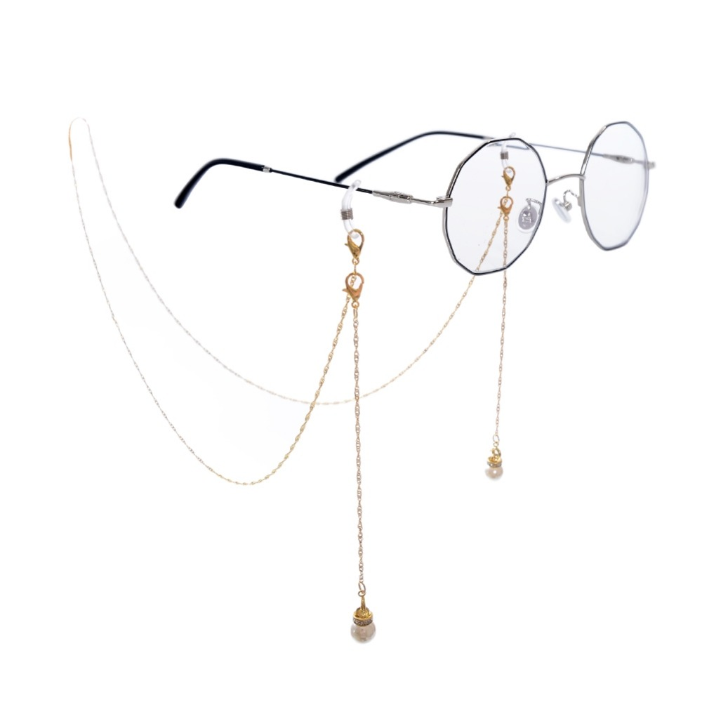 Buy Cheap 2018 Time-limited Sale Dot Women Zinc Alloy Cuerda Gafas Glasses Chain Fashion Chain Pearl Snow Sunglasses Hanging Neck Skilful Manufacture