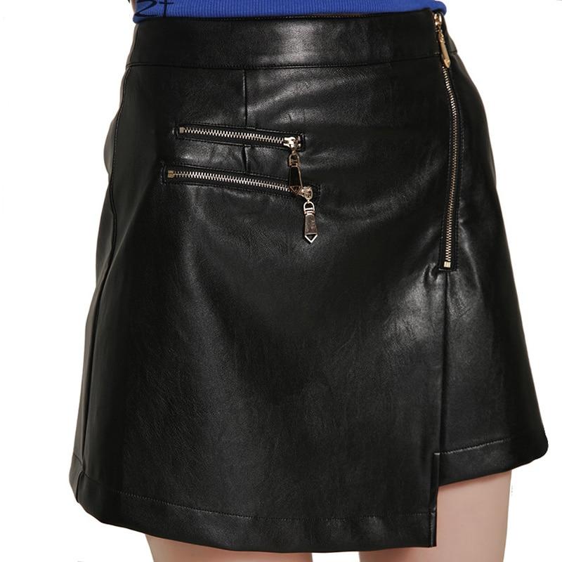 get cheap black leather mini skirt aliexpress