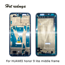 купить 9 lite Middle Frame For Huawei Honor 9 lite Housing Middle Front Bezel Frame Plate  Replacement Repair Spare Parts дешево