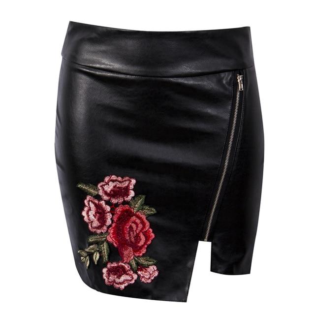 hoge zwarte rok