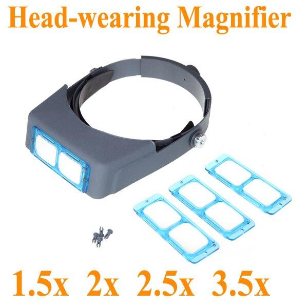 7e5b0e9b68b Profissional Cabeça lupas Magnifier Mãos Livres para Joalheiros e  Relojoeiros