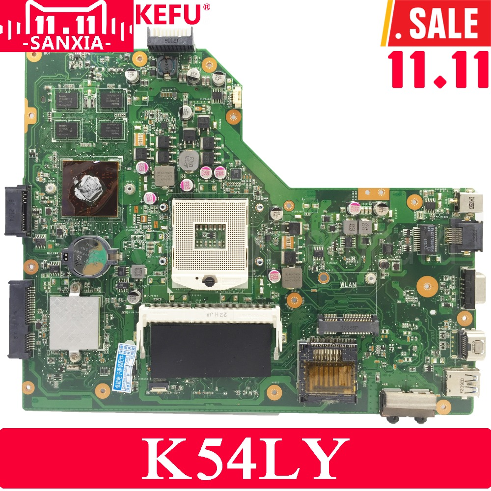 KEFU K54LY Laptop motherboard for ASUS K54L K54LY X54H X54H K54HR X84H Test original mai'nboard REV2.1/2.0 PM k54hr x54h k54ly laptop motherboard for asus for i3 cpu full tested ok 6 months warranty