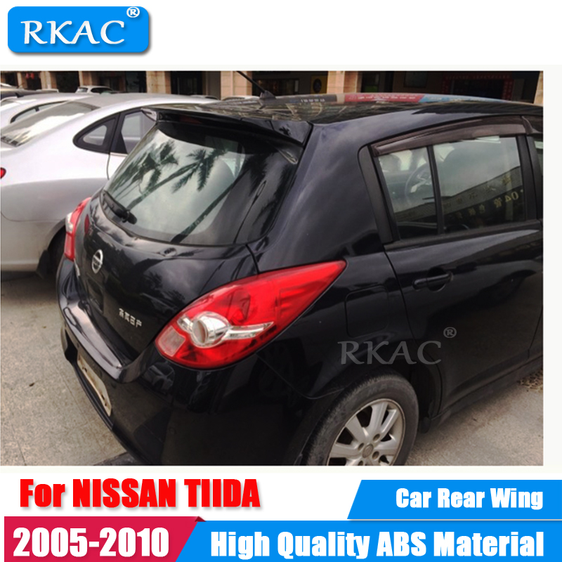 цена на RKAC Rear Roof Lip Spoiler Car Styling Auto Car Rear Roof Spoiler rear Wing For NISSAN TIIDA Spoiler 2005-2010 ABS Material