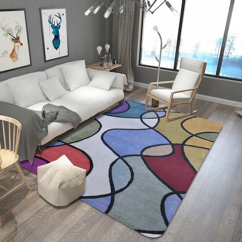 Remarkable Us 19 33 36 Off Bright Color Nordic Geometric Carpets For Living Room Home Decoration Bedroom Large Area Rugs Carpet Kids Room Area Rug Play Mat In Home Interior And Landscaping Dextoversignezvosmurscom