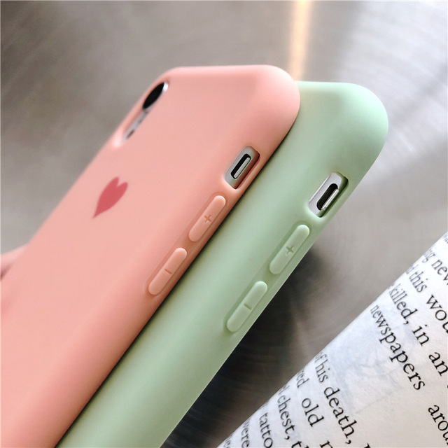 Plain Phone case Soft Silicone fitted case For iphone XR XS MAX 6 7 8 Plus dirt resistant  anti knock with free strap gift Hot