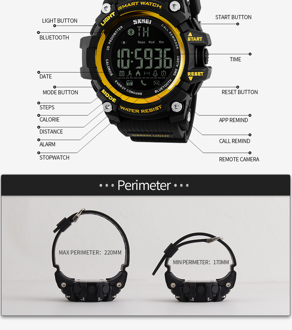 SKMEI Men Smart Watch Pedometer SKMEI Men Smart Watch Pedometer HTB1