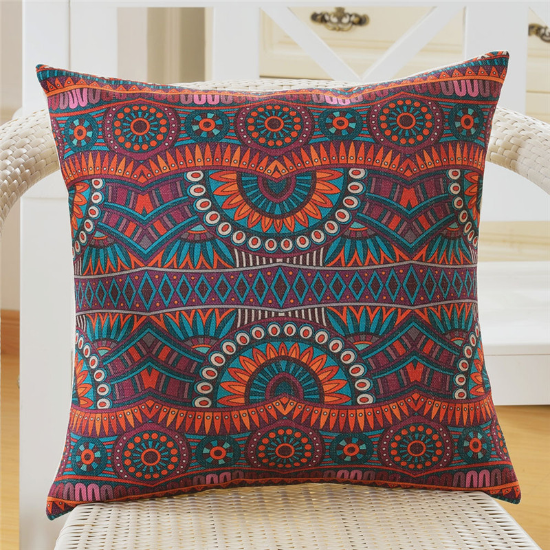 wholesale wedding gift Bohemian ethnic stripes fine lines decorative party cushion cover car office home sofa decor pillow case