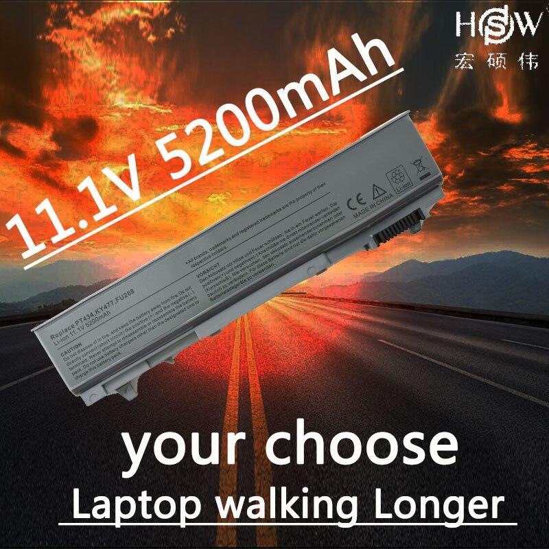 цена на HSW oem Laptop Battery For dell Latitude E6400 M2400 E6410 E6510 E6500 M4400 M4500 M6400 M6500 1M215 312-0215 312-0748 312-0749