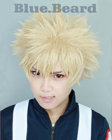 My Hero Academia Boku No Hiro Akademia Bakugou Katsuki Bakugo Short Linen Blonde Heat Resistant Cosplay