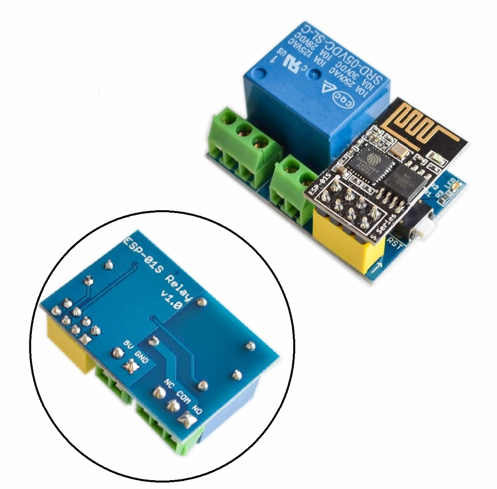ESP8266 5V WiFi relay module Things smart home remote control switch phone APP ESP-01S relay module esp8285 serial wifi module esp m2 ai home 16mbit control module fcc beyond esp8266