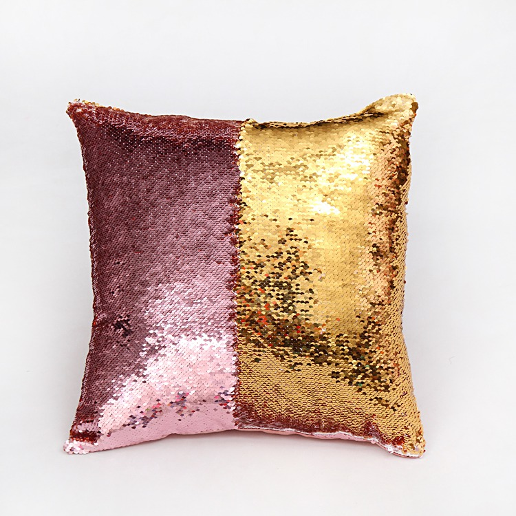 double sided sequins sofa throw <font><b>pillows</b></font> and covers European style decorative <font><b>pillow</b></font> cushion case car <font><b>pillow</b></font> case with insert