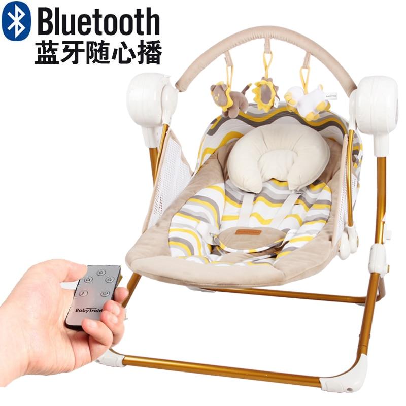 Baby Schommelstoel Automatisch.Us 111 54 34 Off Benken Muchuan Elektrische Baby Swing Muziek Schommelstoel Automatische Cradle Baby Slapen Mand Placarders Chaise Lounge In
