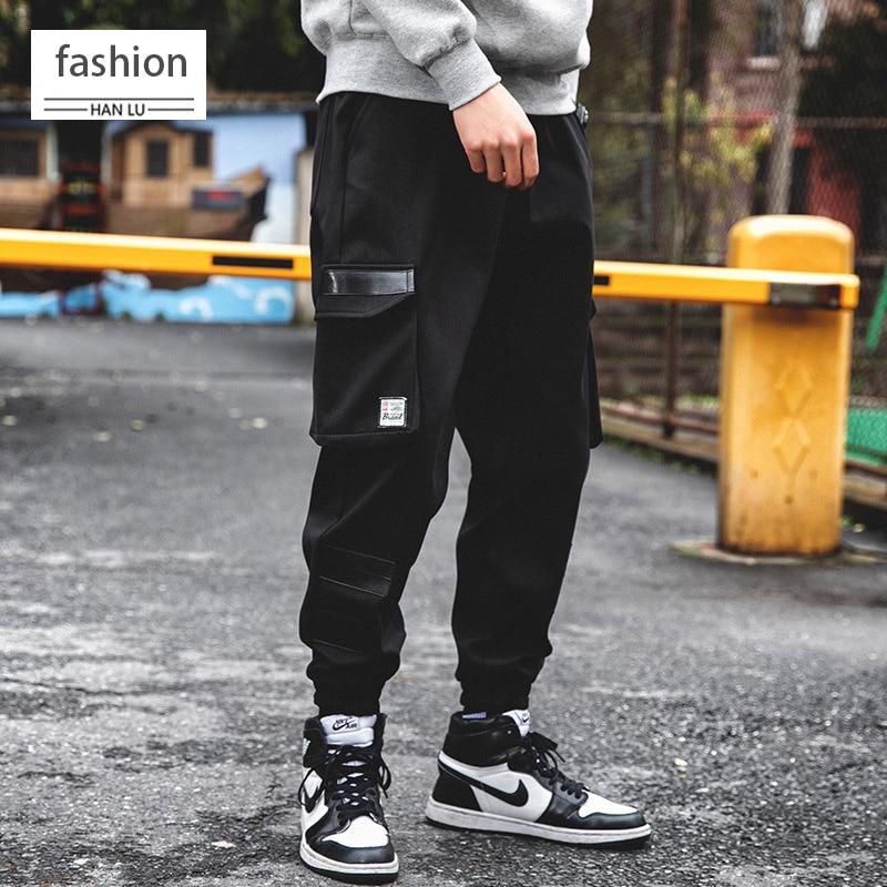 New Black Pants Harem Pants 2019 Men's Casual Hip Hop Tactical Pants Running Pants Fashion Casual Wild Street Wear
