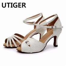 Parte señoras zapatos de baile Sexy Latina blanco Salsa baile zapatos de  mujer de tacón alto 6 CM 7 CM 8 CM Latina zapatos WD211 2118f40d67f6