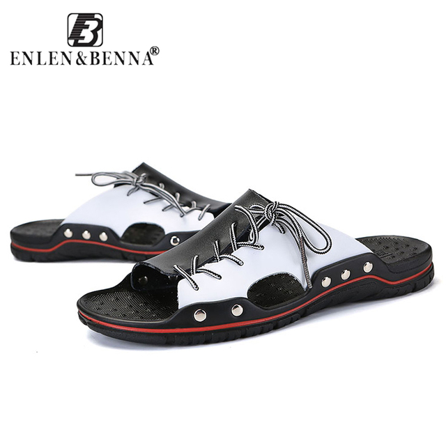 New Arrival Summer Men Flip Flops High Quality Beach Sandals Non-slide Male Slippers Summer Beach Shoes Breathable Ssandals