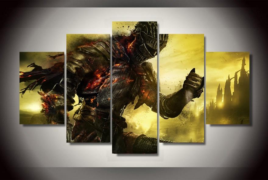 Wall Art Paintings Cuadros Decoracion Framed Dark Souls Painting On ...