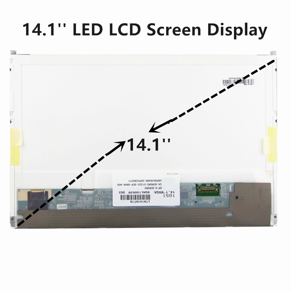 hight resolution of lcdoled 14 1 led lcd screen display replacement laptop panel for dell latitude e6410 1280x800 no touch