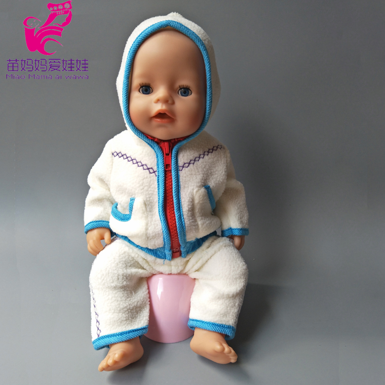 43cm Zapf Baby Born doll Blue winter coat clothes pants for 18 inch dolls outwear baby girl Christmas gift rose christmas gift 18 inch american girl doll swim clothes dress also fit for 43cm baby born zapf dolls
