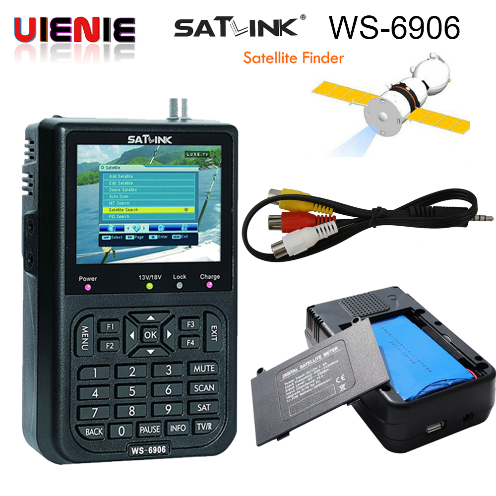 [Genuine]Satlink WS-6906 3.5 DVB-S FTA digital satellite meter satellite finder ws 6906 satlink ws6906 Sat Finder ws 6906 PK V8 сумка printio день щупальца day of the tentacle