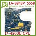 KEFU LA-B843P CN-0FRV68 для DELL CN-0FRV68 P51F 5458 5558 5758 материнская плата для ноутбука I7-4500U GT920M/GT820M LA-B843P работа 100%