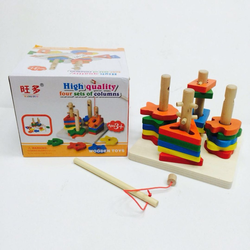 Montessori For Kid Children's Educational Toys Wooden Toys Gifts For Baby 2 Year Shipping From Russia