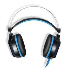 GS500 Lightweight HIFI Noise Cancelling Gaming Cellphones Headset Earphone With Mic Stereo Bass LED Light