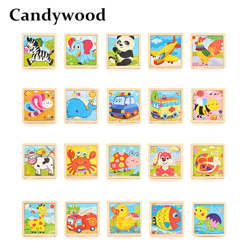 Sale Animal//Traffic Puzzles Wooden Cartoon Jigsaw 3D Puzzle Jigsaw Natural Wood