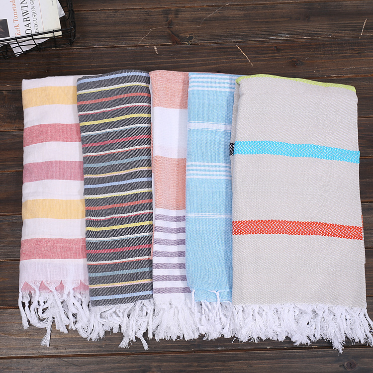Turkish Tassel Beach Towels For Adults Large Cotton
