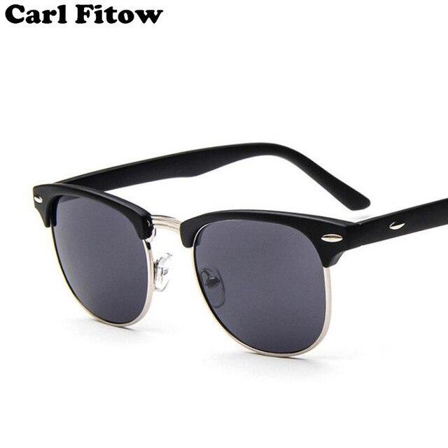 Setengah Logam Bambu Kacamata Hitam Pria Wanita Merek Desain Kacamata  Cermin Mode Matahari Kacamata Gafas Oculos 63e0987bc1