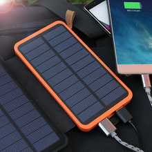 20000mAh Solar Power Bank  High Capacity Real Solar Charging Power Bank Outdoors Use for iPhone iPad Samsung LG HTC Sony ZTE. цена