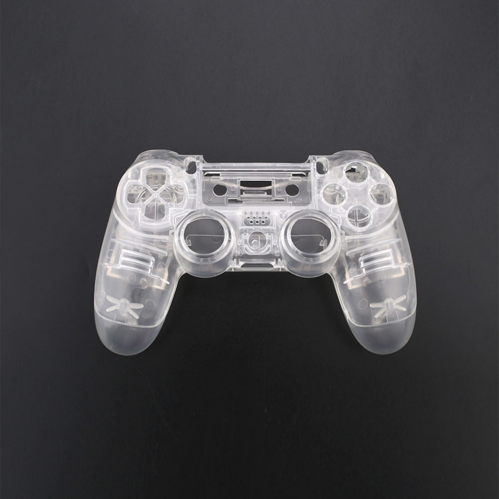 Cewaal Full Housing Cover Case Button Key Kit for PS4 Wireless Game Controller Clear Gift