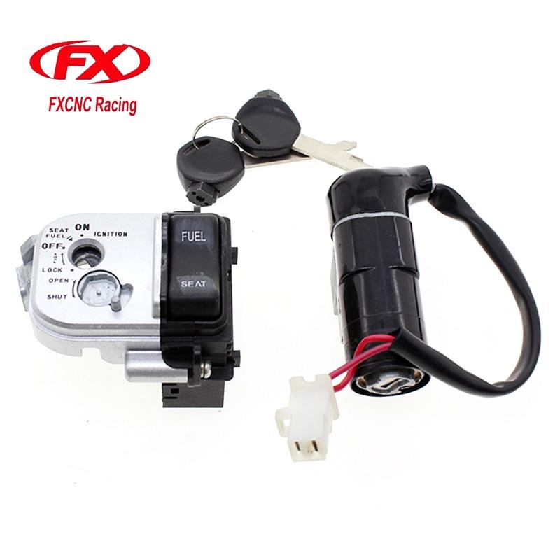 CNC Motorcycle Ignition Switch Lock And Seat Lock With Keys Set For HONDA PCX125 PCX 125 PCX150 PCX 150 2014 - 2015 14 15 цена 2017