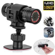 Мини видеокамера F9 HD 1080P велосипедный мотоциклетный шлем Спортивная шпионская скрытая камера видео рекордер DV видеокамера градусный монитор Пульт Micr