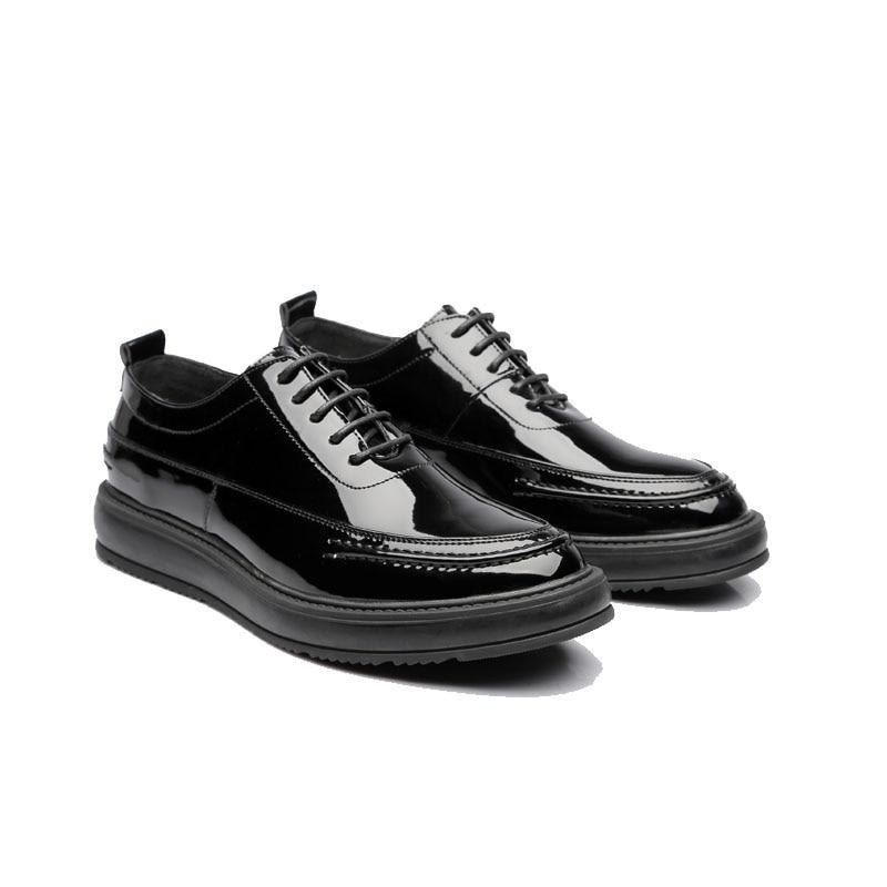 Élégant Hommes Msw8118116 D'été Patent Marque Classique Designer Luxe En De Chaussures Leather Cuir Mens Robe P7gvqUA
