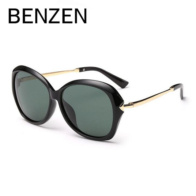BENZEN Vintage  Polarized Sunglasses Women Retro Sun Glasses Female Shades Lentes De Sol Gafas De Sol Mujer With Box Black 6140