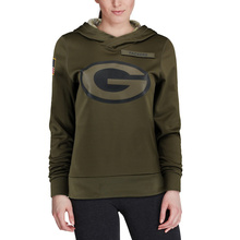 23465d0ad9c 2019 Green Bay Sweatshirt Packers Salute to Service Sideline Therma  Performance Pullover American football Hoodie Olive
