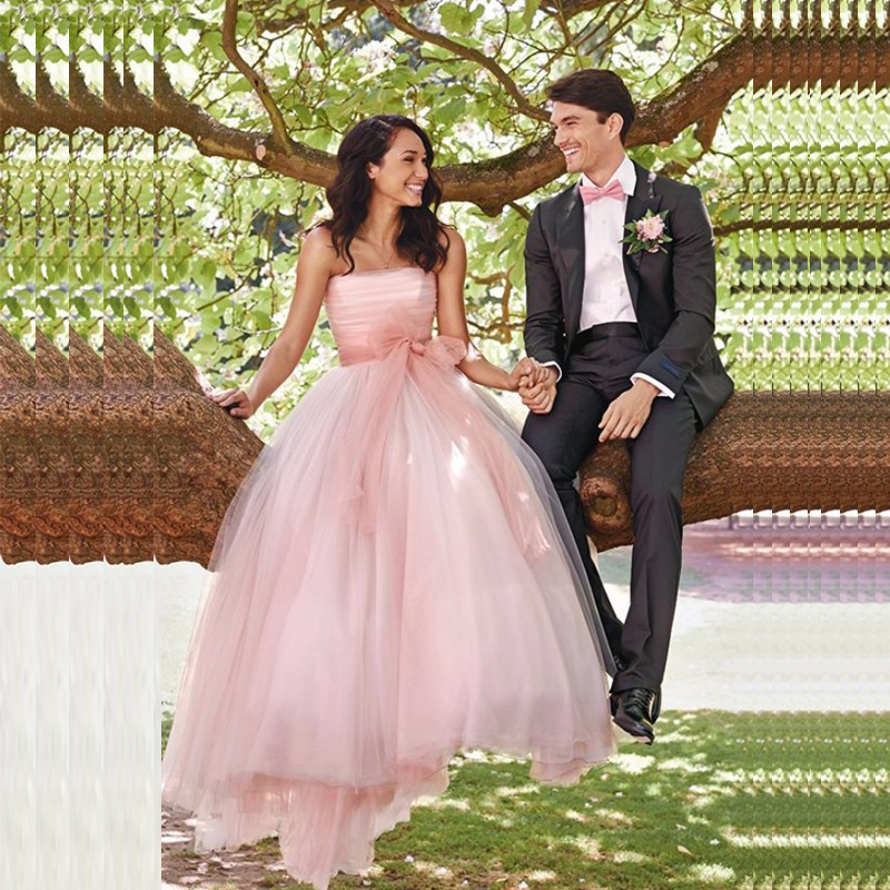 Online get cheap soft pink wedding dresses for Soft pink wedding dress