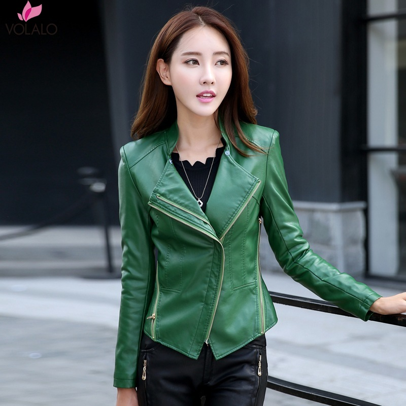 5XL 2019 Spring Winter Women Black Slim Cool Lady PU   Leather   Short Jackets Sweet Female Zipper Faux Femme Outwear Coat Plus Size