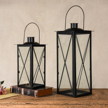 PINNY European Modern Simplicity Iron Candle Holders Metal Portable Lantern Crafts Home Decoration Accessories