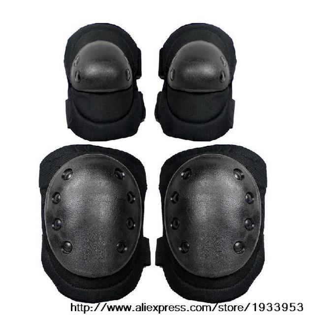 Black Outdoor Tactical Military Outdoor Paintball Sport Knee & Elbow Protective Pads Hunting products Wholesale