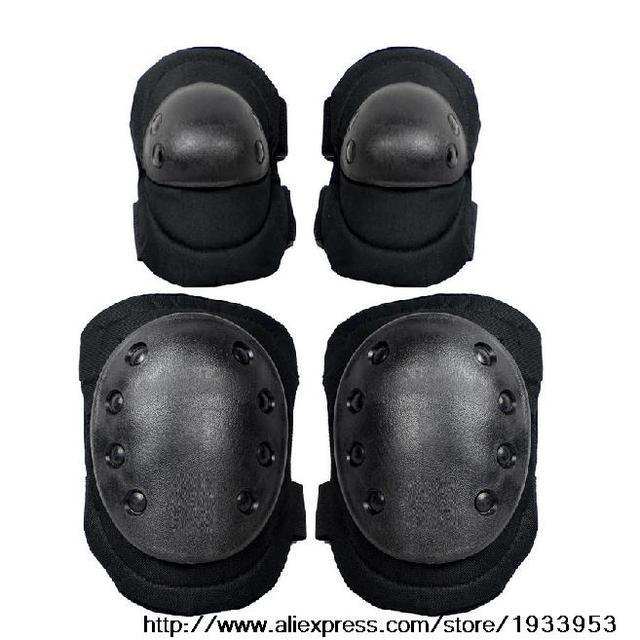 Negro Deporte Al Aire Libre Táctico Militar Al Aire Libre Paintball Rodilla y Codo Almohadillas Protectoras productos Caza Al Por Mayor