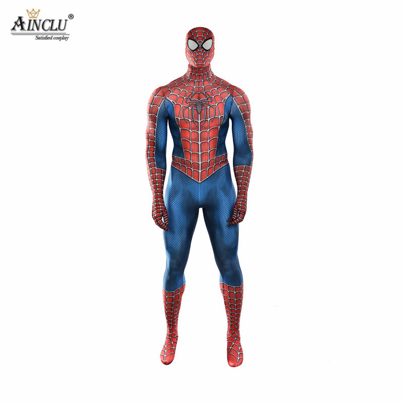 3D Printed Adult Kids Spider-Man 3 Raimi Spiderman Cosplay Costume Zentai Halloween Superhero Bodysuits Suits Jumpsuits CH