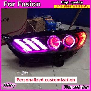 Image 1 - Style de voiture pour Ford Mondeo 2013 2016 phare LED pour nouvelle lampe frontale Fusion clignotant dynamique LED DRL bi xénon HID