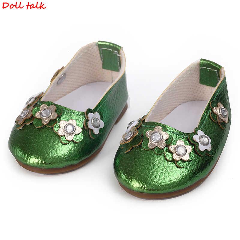 Кукольные туфли зеленого цвета со звездами 7,5 см, модные крутые мини-туфли для американских и российских кукол DIY, красивые аксессуары для девочек, оптовая продажа