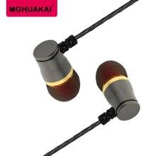 MGHUAKAI Hi-Res Graves Potentes Fone de Ouvido Estéreo Fone de Ouvido Para Menina Menino Bala Cabeça Manga de Silicone conjunto Para Leagoo S9