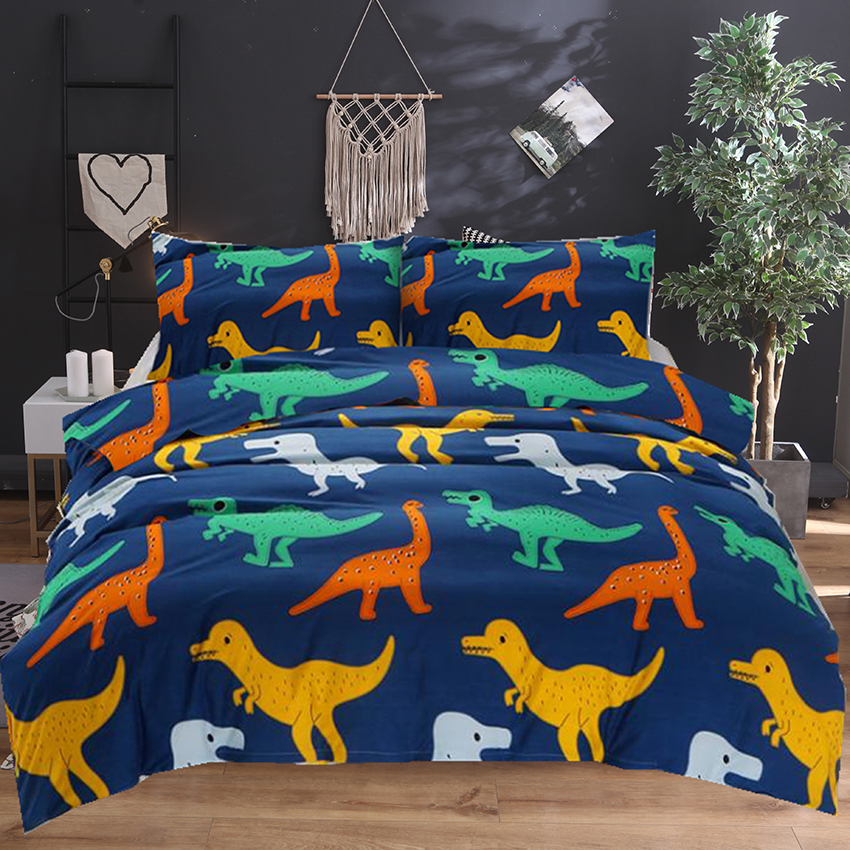 Newest 3d Cartoon Dinosaur Children Bedding Set King Queen Double Full Twin Comforter Duvet Cover Sets Linens E1Newest 3d Cartoon Dinosaur Children Bedding Set King Queen Double Full Twin Comforter Duvet Cover Sets Linens E1